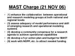 mast charge 21 nov 06