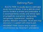 defining pain