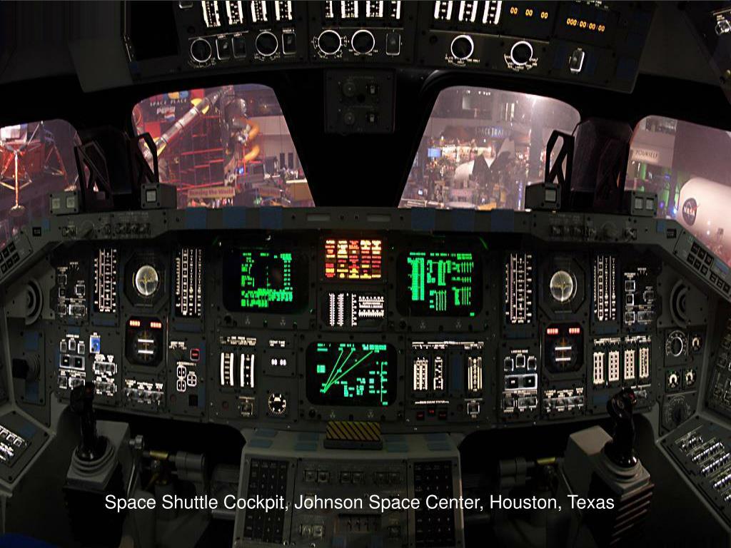 Space Shuttle Cockpit, Johnson Space Center, Houston, Texas