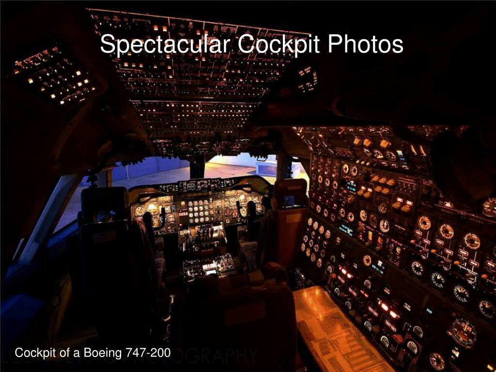 Spectacular Cockpit Photos