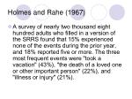 holmes and rahe 19679