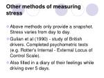 other methods of measuring stress