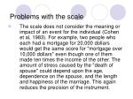 problems with the scale14
