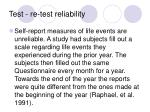 test re test reliability