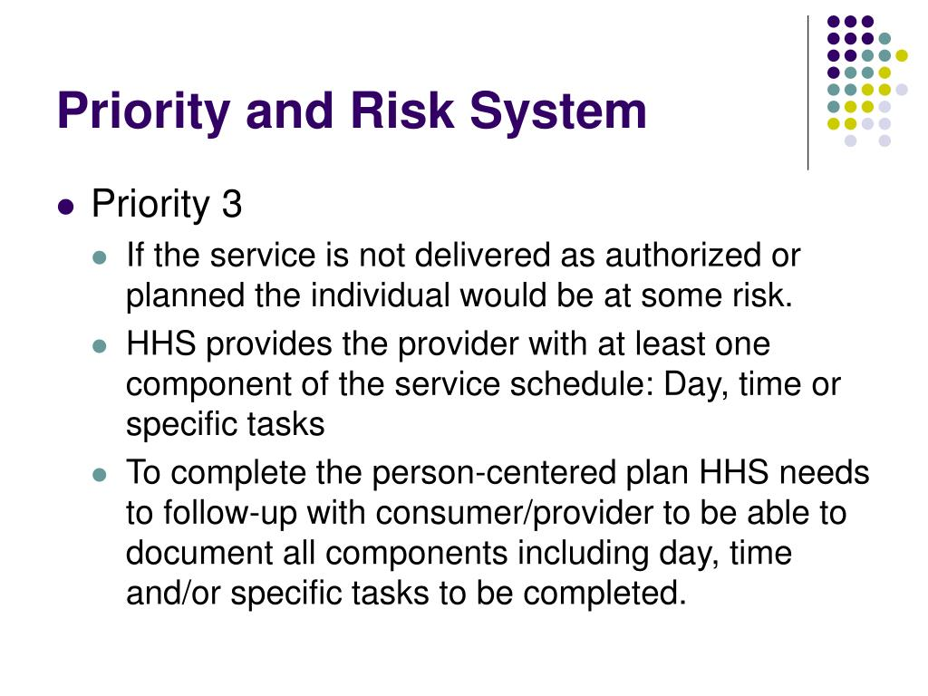 Priority and Risk System