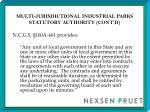multi jurisdictional industrial parks statutory authority cont d