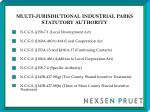 multi jurisdictional industrial parks statutory authority