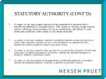 statutory authority cont d4