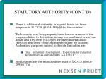 statutory authority cont d5