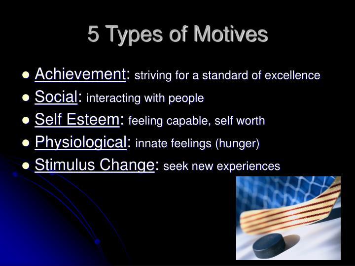 5 Types of Motives