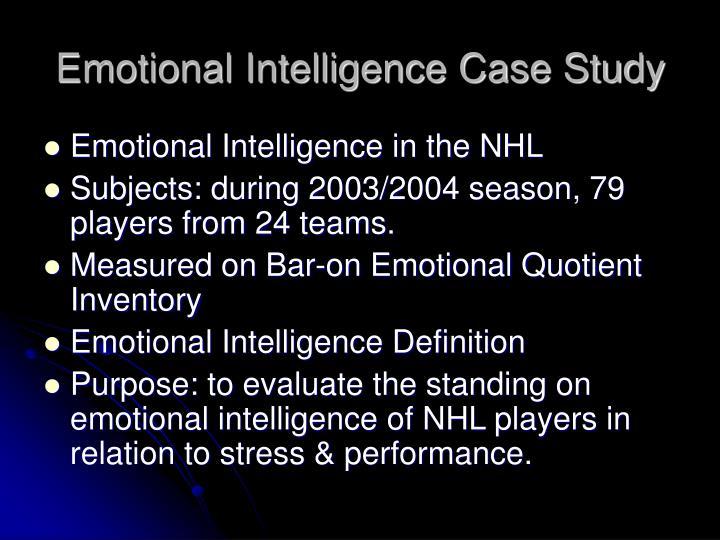 Emotional Intelligence Case Study