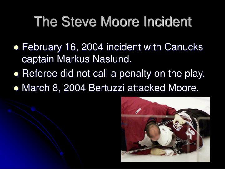 The Steve Moore Incident