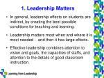 1 leadership matters