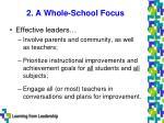 2 a whole school focus
