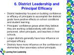 6 district leadership and principal efficacy