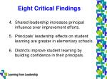 eight critical findings3