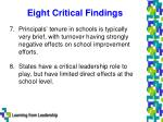 eight critical findings4
