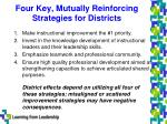 four key mutually reinforcing strategies for districts