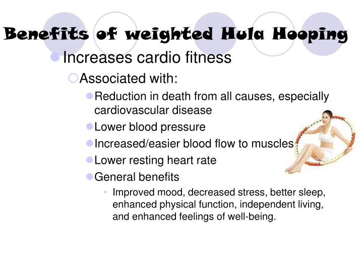 Benefits of weighted hula hooping