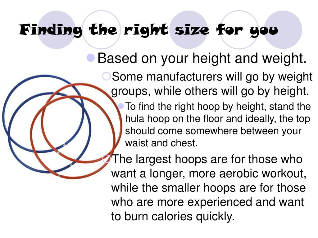 Finding the right size for you
