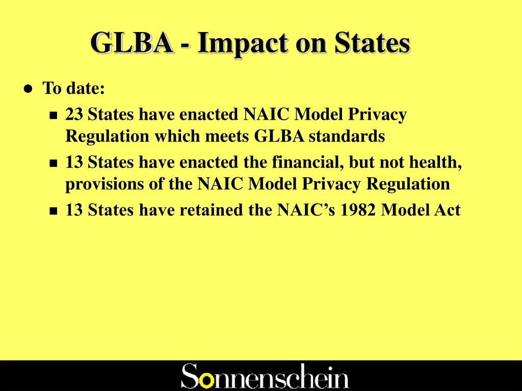 GLBA - Impact on States
