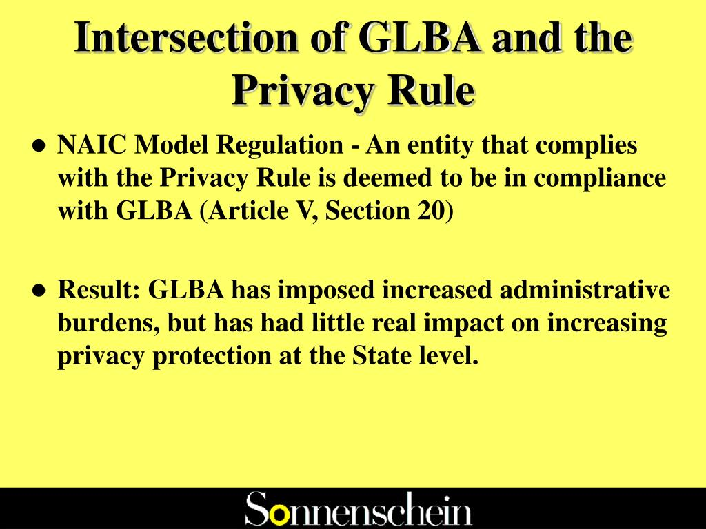 Intersection of GLBA and the Privacy Rule