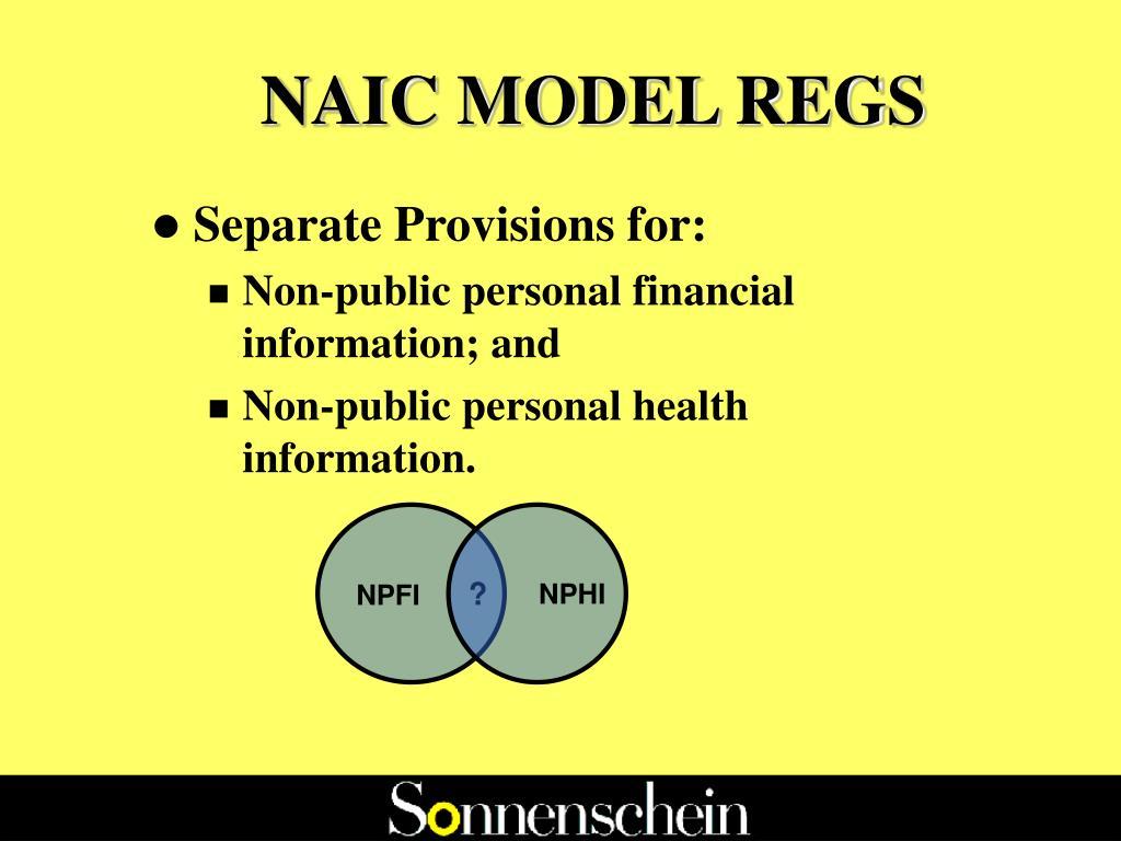 NAIC MODEL REGS