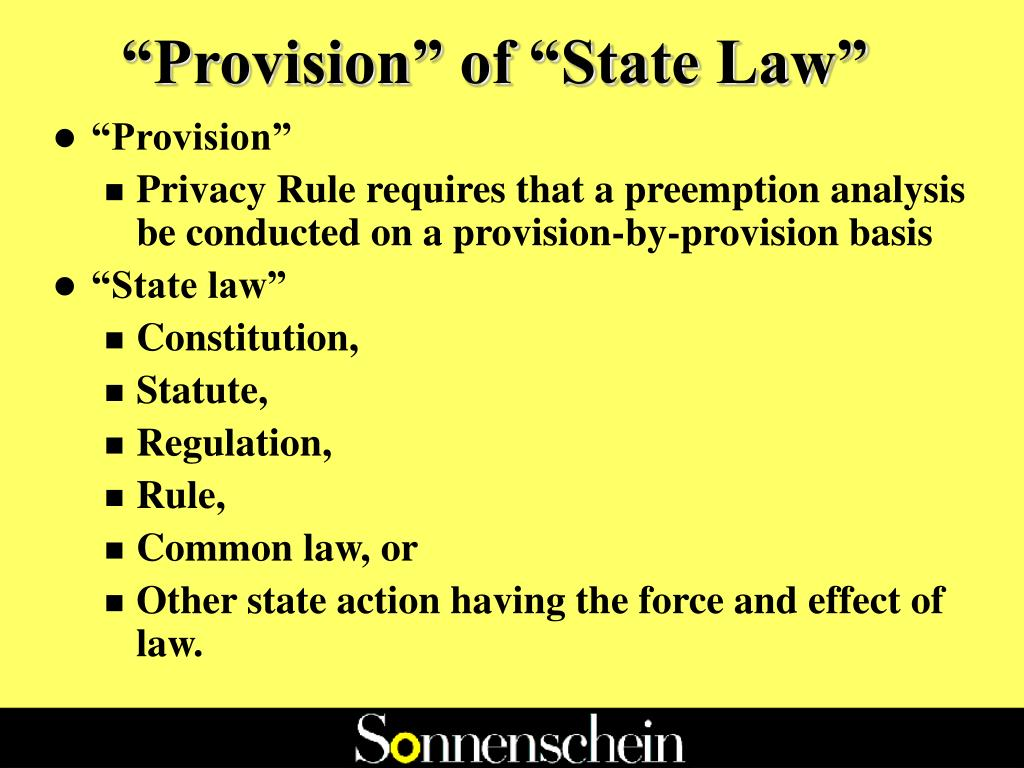 """""""Provision"""" of """"State Law"""""""