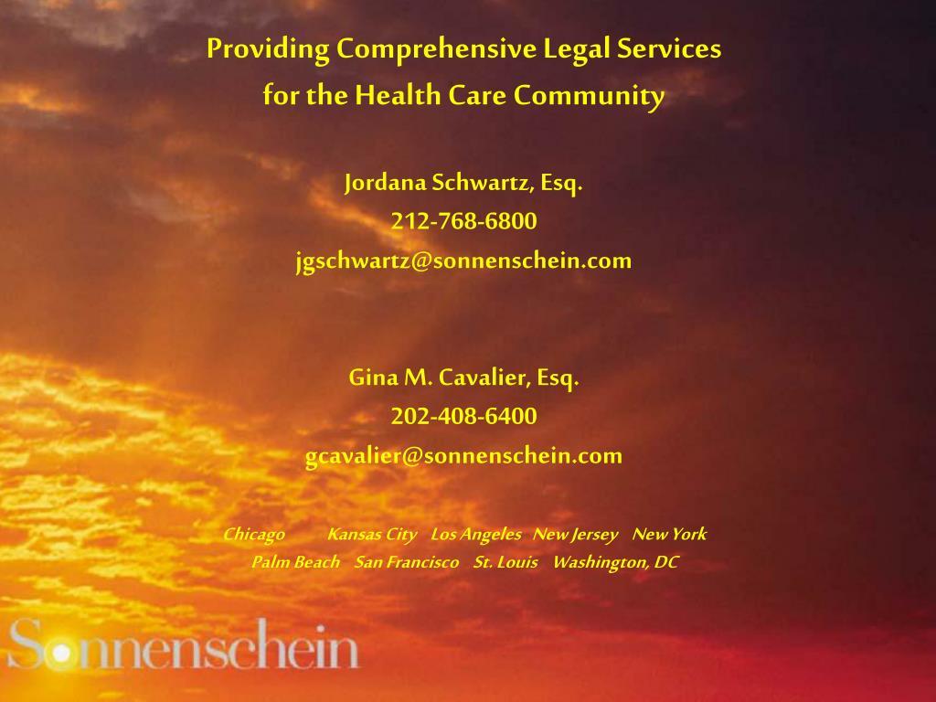 Providing Comprehensive Legal Services