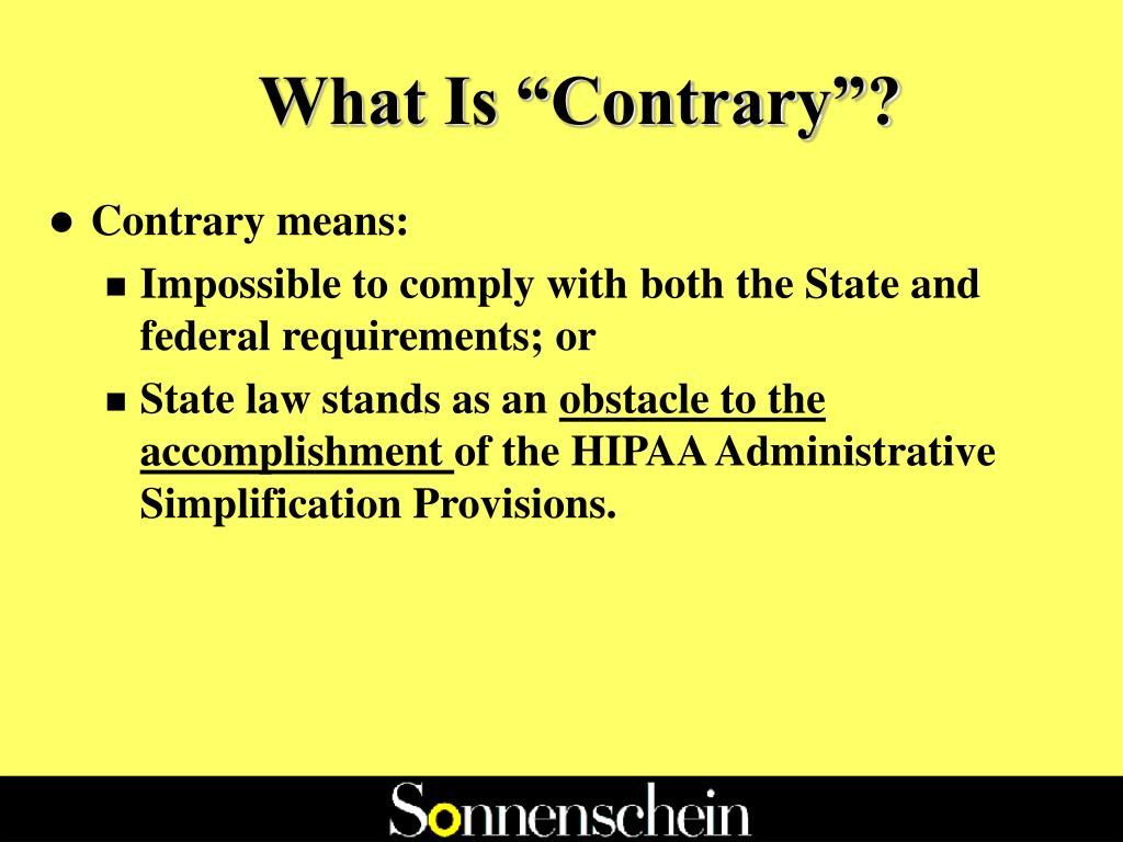 """What Is """"Contrary""""?"""