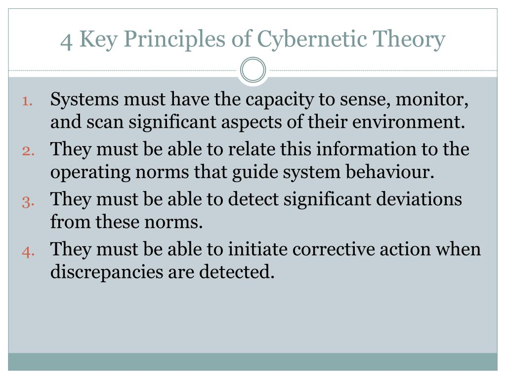4 Key Principles of Cybernetic Theory