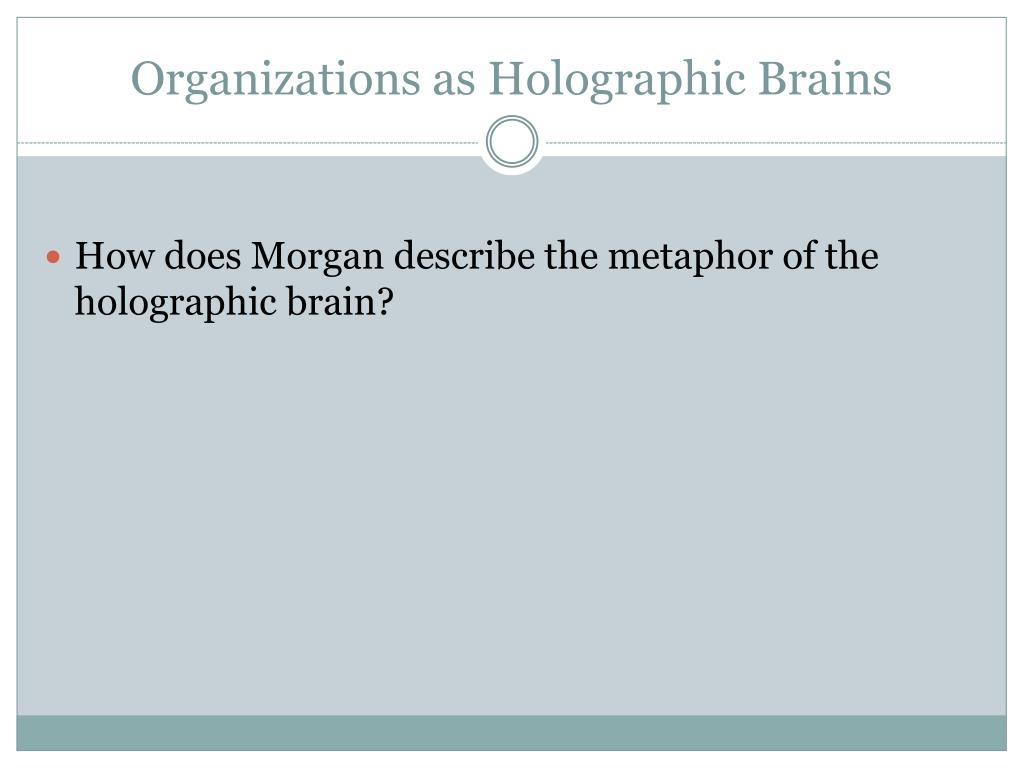 Organizations as Holographic Brains