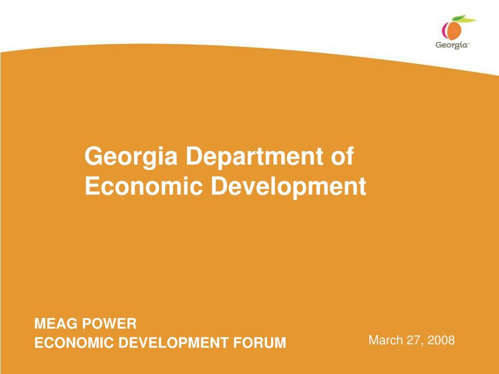 georgia department of economic development l.