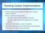 tracking cookie implementation