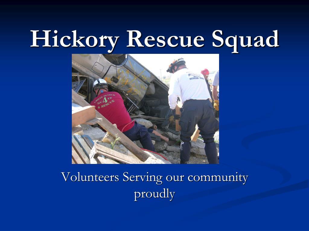 hickory rescue squad l.