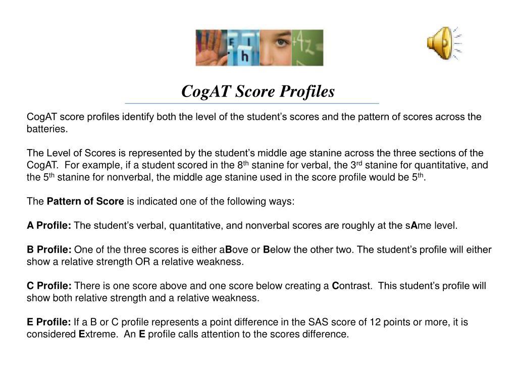 CogAT Score Profiles