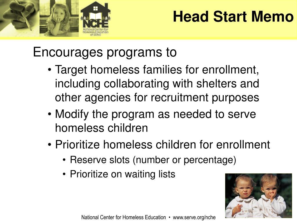 Head Start Memo