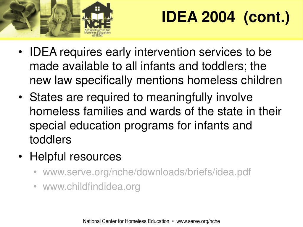 IDEA 2004  (cont.)