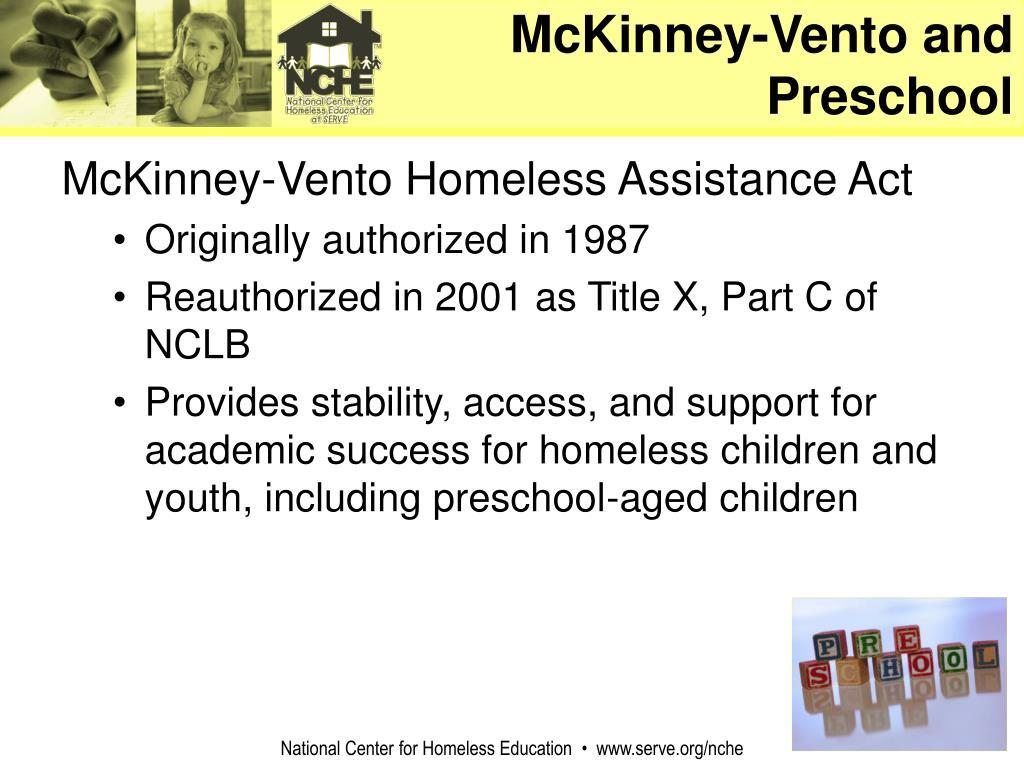 McKinney-Vento and Preschool