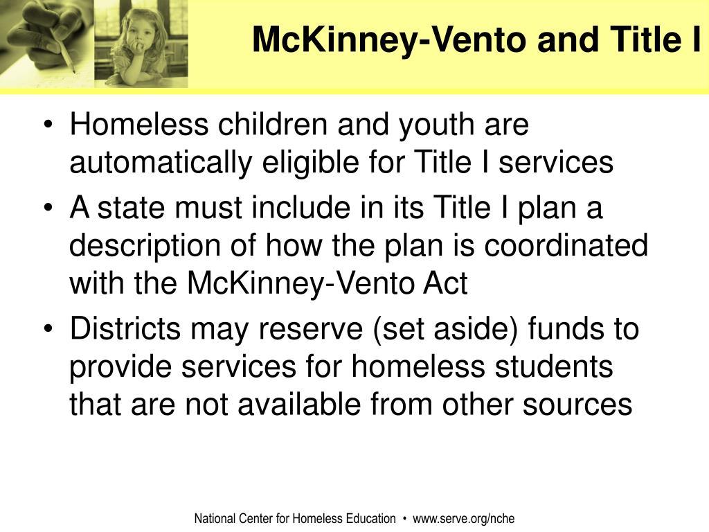 McKinney-Vento and Title I