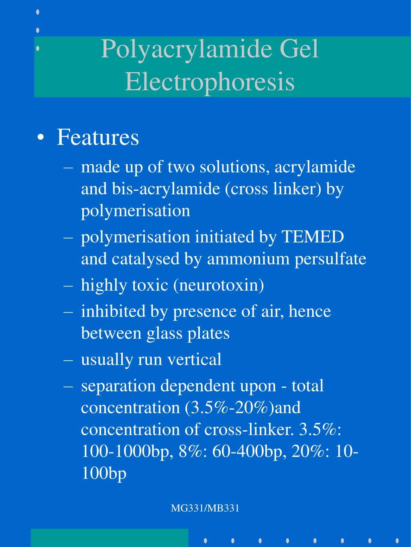 Polyacrylamide Gel Electrophoresis