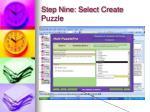 step nine select create puzzle