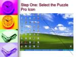 step one select the puzzle pro icon
