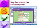 step two create your vocabulary bank
