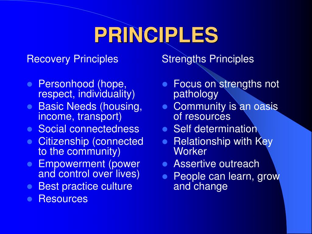 Recovery Principles