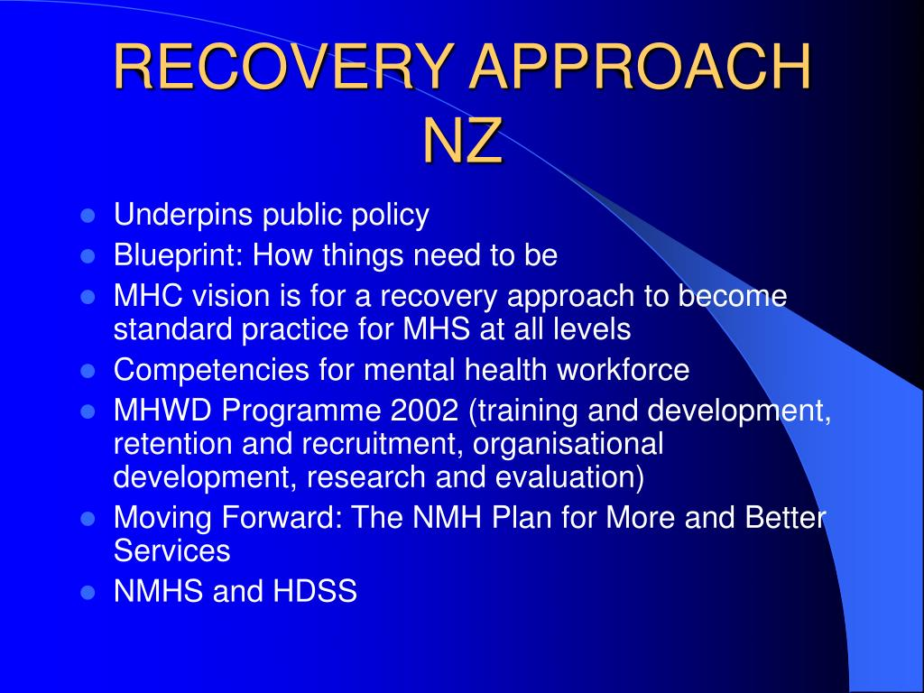 RECOVERY APPROACH NZ