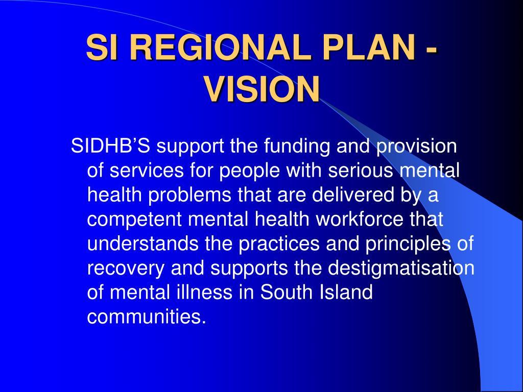 SI REGIONAL PLAN - VISION