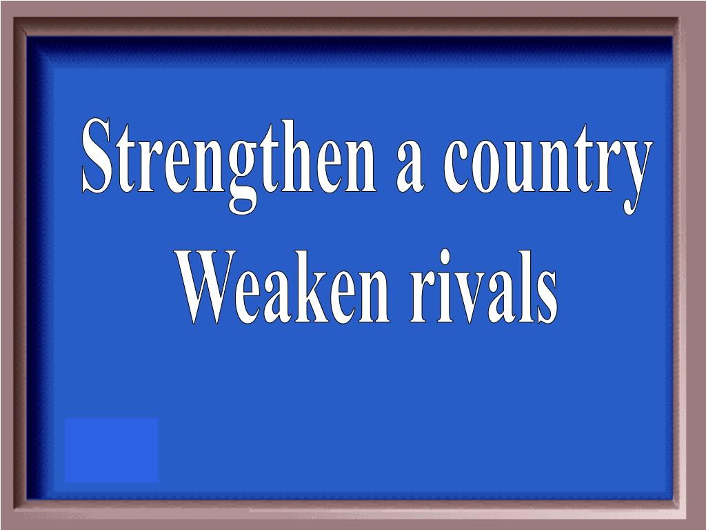 Strengthen a country