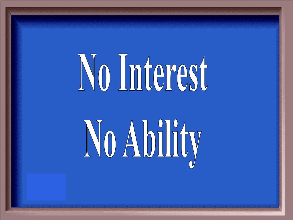 No Interest