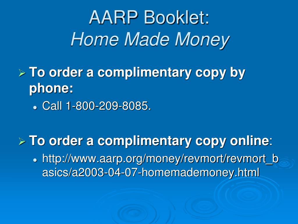 AARP Booklet: